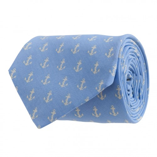 Anchors Up Tie: Hydrangea / Ivory